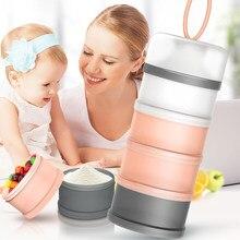 4 camadas destacável caixa de armazenamento de alimentos para bebê 480ml essencial cereais leite em pó caixas portátil toddle crianças recipiente de leite infantil