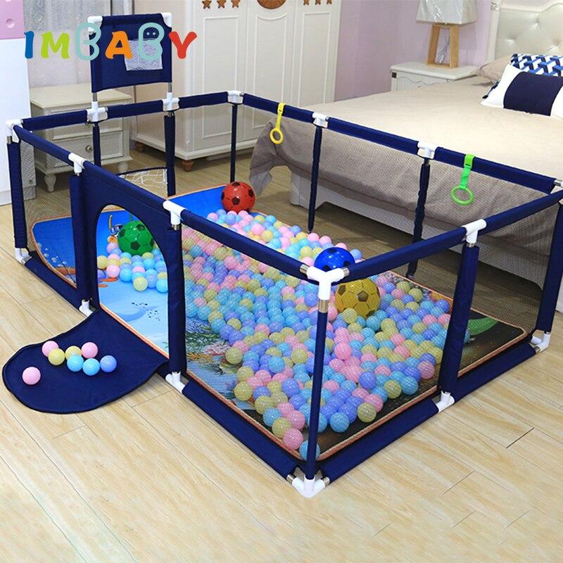 IMBABY sıcak satış oyun parkı çocuklar için bebek oyun topları havuz parkı yatak çit çocuklar güvenlik bariyeri oyun merkezi koruyun bebeğiniz
