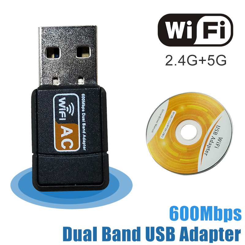 Wireless External Ethernet 802.11ac Laptop Usb 2.4g 5g Desktop Wifi Adapter Antena Dongle Lan  Wi-fi Card Longo Alcance