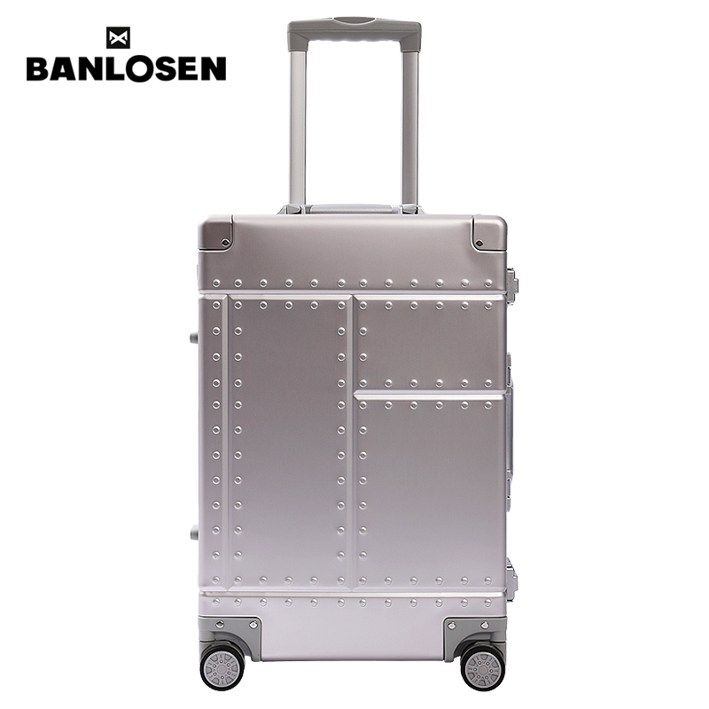 Banlosen 100% All Aluminum Carry On Luggage with TSA Locks Metal Hard Shell Spinner Suitcase (New Arrival , 20 Inch)