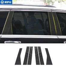 MOPAI Estilo de fibra de carbono coche ventana Pilar puesto Protector pegatinas para Jeep Grand Cherokee 2011-2018