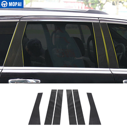 MOPAI Carbon Fiber Styling Car Window Pillar Post Protector Stickers for Jeep Grand Cherokee 2011-2018 Accessories