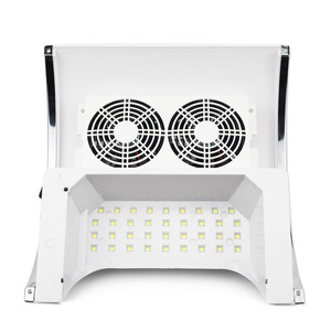 Image 5 - Sèche linge 80W 2 en 1, appareil de manucure avec aspiration sous vide, avec ventilateur et collecteur de poussière dongles, outil lampe à UV LED