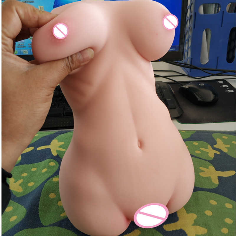 2.3kg Mini Silicone <font><b>3D</b></font> <font><b>sex</b></font> doll Sexy Ass artificial vagina Anal Double Channels Male masturbator cup <font><b>Sex</b></font> Toys for Men Masturbate image