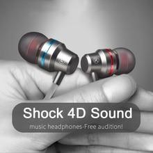 Słuchawki typu C extra bass linia prosta PC subwoofer słuchawki douszne metalowe sportowe telefon muzyczny słuchawki słuchawki przewodowe