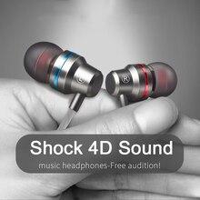 Tipi C kulaklık ekstra bas düz çizgi PC subwoofer tel kulaklık in kulak metal spor müzik telefonu kulaklık kablolu kulaklıklar