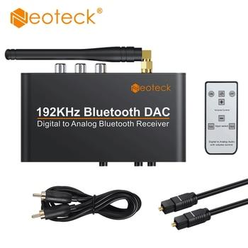 Neoteck 192Khz Bluetooth DAC mit Fernbedienung Gebaut-in Bluetooth V 5,0 Empfänger Unterstützung APT-X AAC SBC DAC konverter