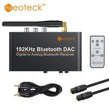 Neoteck 192 кГц Bluetooth DAC с пультом дистанционного управления Встроенный приемник Bluetooth V5.0 поддержка APT-X AAC SBC DAC конвертер