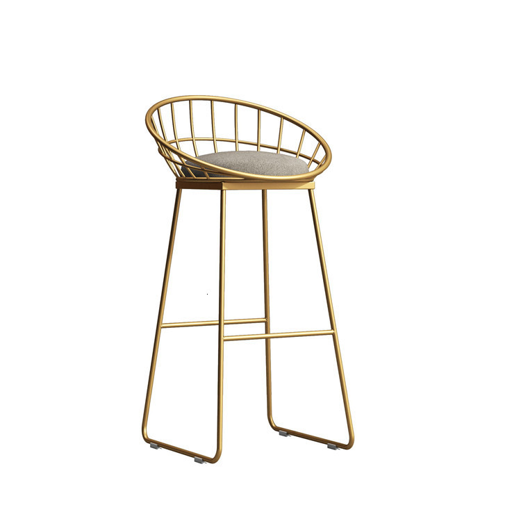 Simple Bar Chair Iron Bar Chair Gold High Stool Modern Dining Chair Wire Leisure Chair Nordic Bar Chair