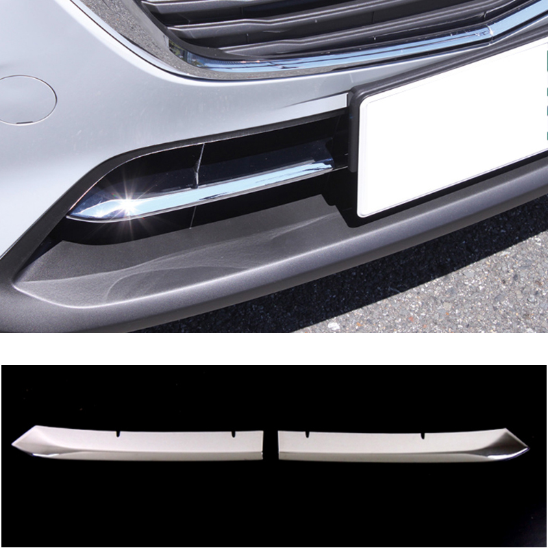 UBLUEE For <font><b>Mazda</b></font> CX-3 <font><b>CX3</b></font> 2017 2018 <font><b>2019</b></font> Accessories car Front Bumper Grill Bottom Cover trim cover Exterior ABS Chrome Sticker image