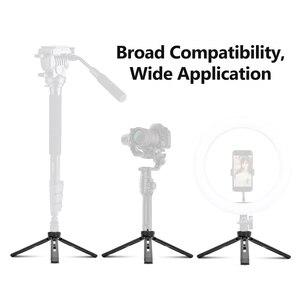 Image 5 - ترايبود معدني صغير للتصوير الفوتوغرافي ، حامل ثلاثي القوائم من سبائك الألومنيوم مع برغي 1/4 بوصة لكاميرا DSLR ILDC ، جهاز عرض الفيديو