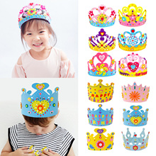 Toy Birthday-Tiaras Party-Decorations for Children Kid Random-Style Hat-Material Crown-Kit