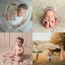 P15C Newborn Baby Toddler Photography Prop Hollow Lace Blanket Basket Filler Backdrop