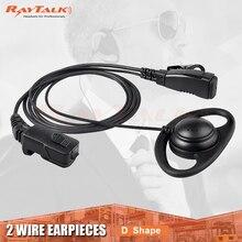 D Form Hörer Kopfhörer mit Noise Cancelling Mic, Weiche Gummi schleife, durable PU drähte für Zwei Weg Radio TPH700, freies verschiffen