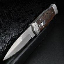XUAN FENG couteau de chasse de plein air, couteau pliant auto défense, couteau court à lame fixe, couteau de sauvetage, couteau de soutien tactique