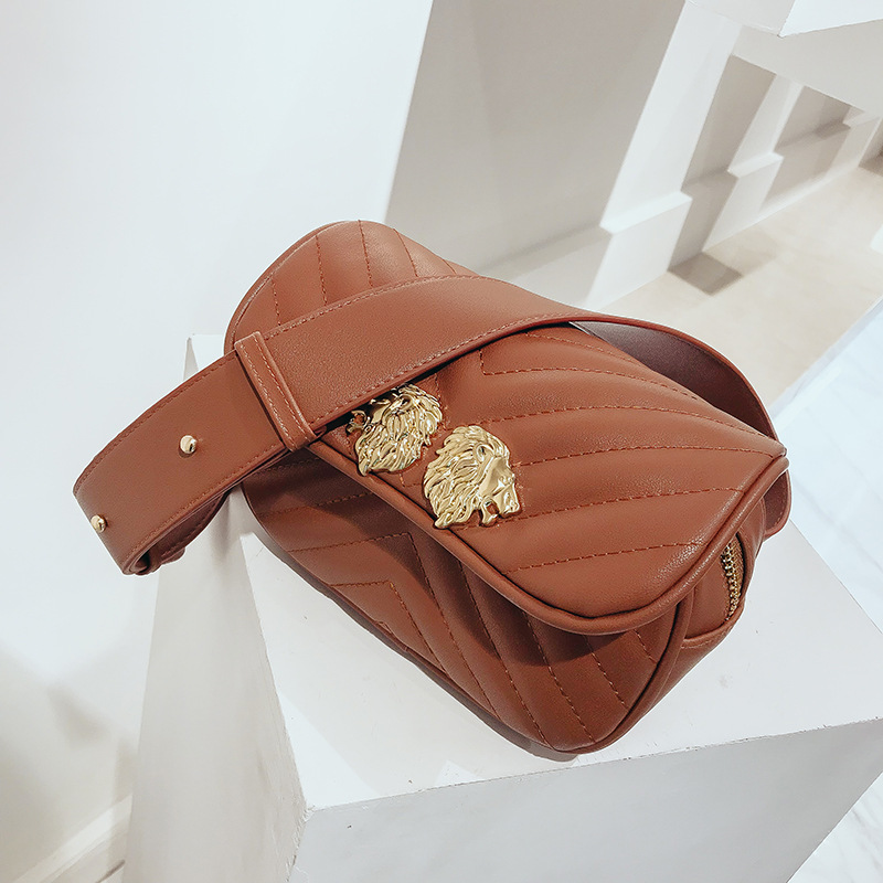 Casual Women Waist Bag Brand Designer Waist Pack Fanny Packs Retro Simple Belt Bag Luxury All Match Small Leather Chest Bag