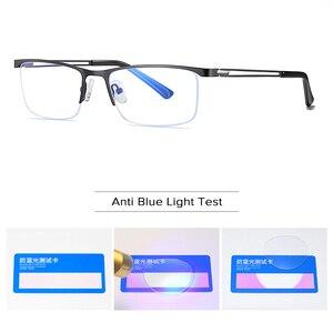 Image 5 - Semi Remless Computer Bril Frame Mannen Optische Recept Brillen Frame Clear Bijziendheid Bril Frame Anti Blauw Licht 2020