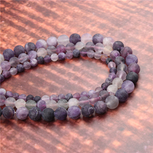 Wholesale Fashion Jewelry Frosted Amethyst 4/6/8/10/12mm Suitable For Making Jewelry DIY Bracelet Necklace