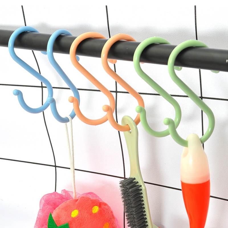 Baby Stroller Hanger S Shape Clothing Rack Durable Kitchen Hooks Multi-purpose Portable Plastic Home Organizer