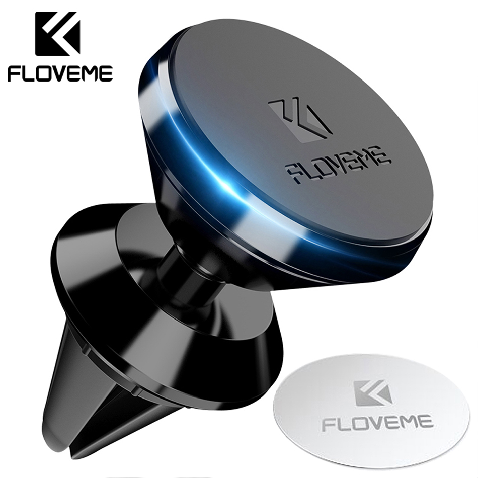 FLOVEME Universal Magnetic Holder Car Phone Holder For Mobile Phone Magnet Air Vent Outlet Mount Holder Stand For IPhone Samsung