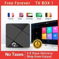 FREE lifetime Q2 TV Box RK3318 Smart Android 4 + 64GB Media player Wifi Netflix TV Box Media Youtube Android 9.0 TV BOX h96