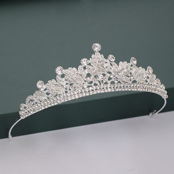 Gold Silver Color Tiaras And Crowns For Wedding Bride Party Crystal Pearls Diadems Rhinestone Head Ornaments Fashion Accessories 2