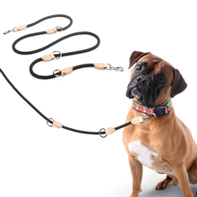 Multifunction Double Leash P chain Collar Two Dog Leashes Nylon Adjustable Long Dog Training Leads Tied Dog Rope Pet Supplies