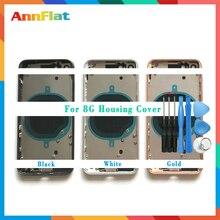 AAA عالية الجودة آيفون 8 8 جرام/8 Plus 8 Plus / X الإسكان غطاء البطارية الباب الخلفي الهيكل الإطار الأوسط مع الزجاج أداة