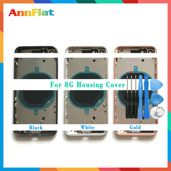 AAA High quality For iphone 8 8G / 8 Plus 8Plus / X Housing Cover Battery cover Rear Door Chassis Middle Frame with Glass +Tool