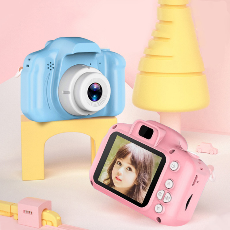 1080P Digital Mini Kids Camera HD Screen Cartoon Cute Camera Toys Outdoor Photography Props for Children Gift Birthday Christmas title=