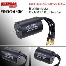 цена на 3650 2300KV/3100KV/3900KV  Sensorless Brushless Waterproof Motor for 1/10 RC Car Buggy Monster Truck parts