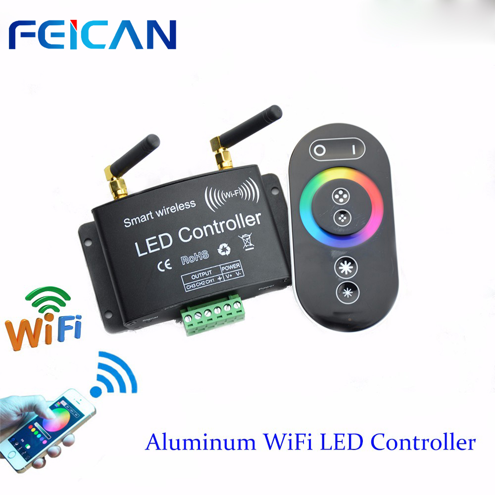 DC12-24V Wifi LED RGB Controller Remote Control RF Touch Controller 3Channel By Android/IOS APP For SMD5050 3528 RGB LED Strip