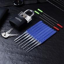 Lock-Pick-Set Hardware Hand-Tools-Supplies Practice-Padlock Transparent Visible Broken-Key