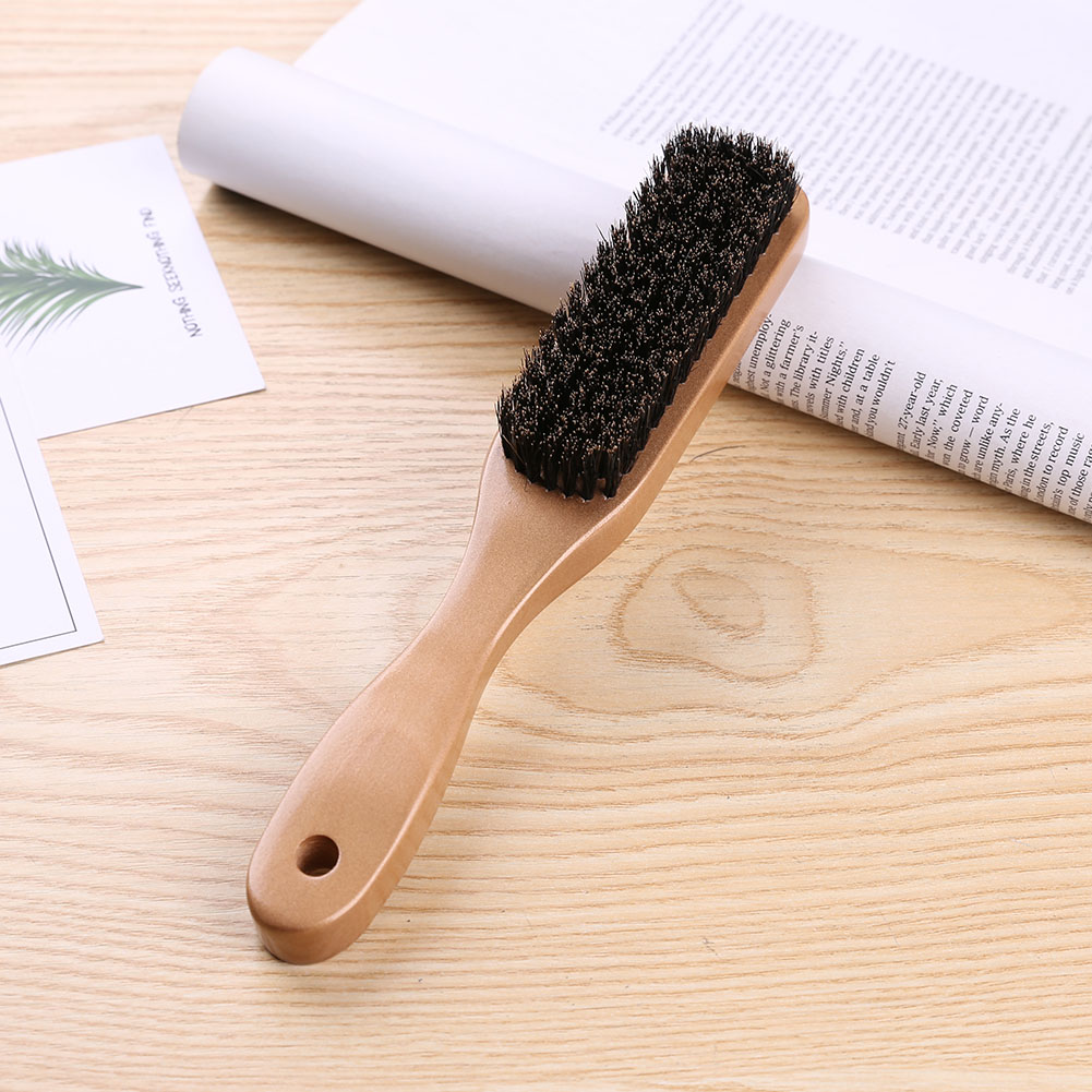 Wood Handle Hair Brush Set Hard Boar Bristle Combs For Men Women Hairdressing Hair Styling Beard Comb Brush