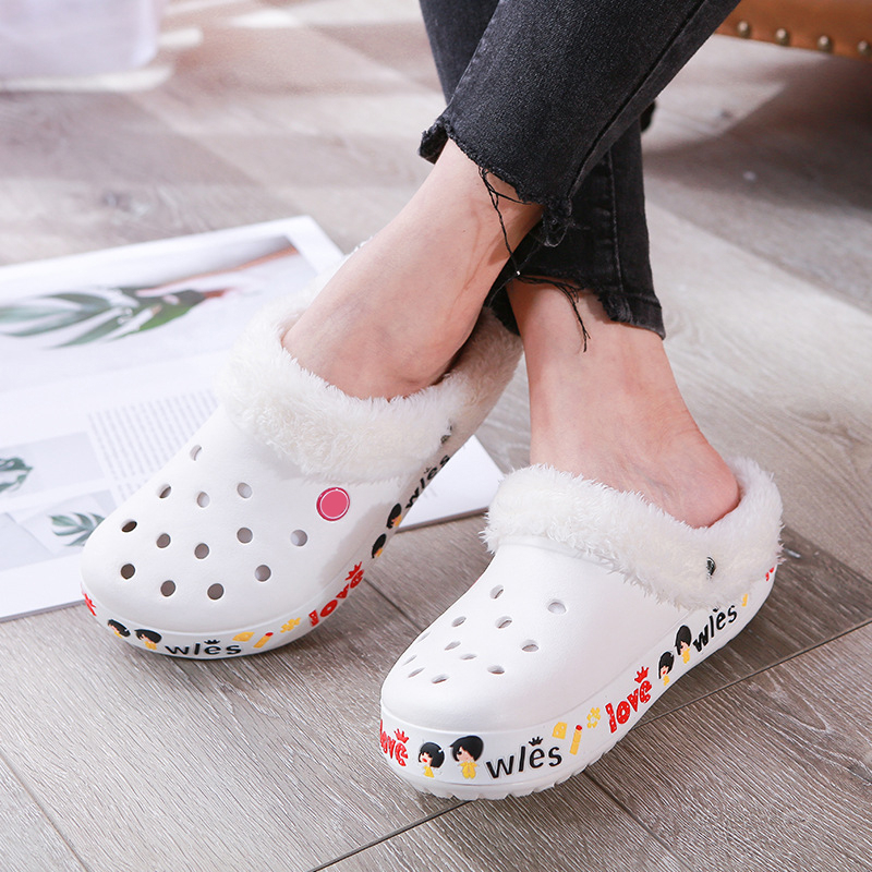 Winter Unisex Plus Velvet Slippers Hospital Beauty Salon Non-slip Medical Shoes Dental Clinic Pet Shop Doctor Nurse Work Shoes