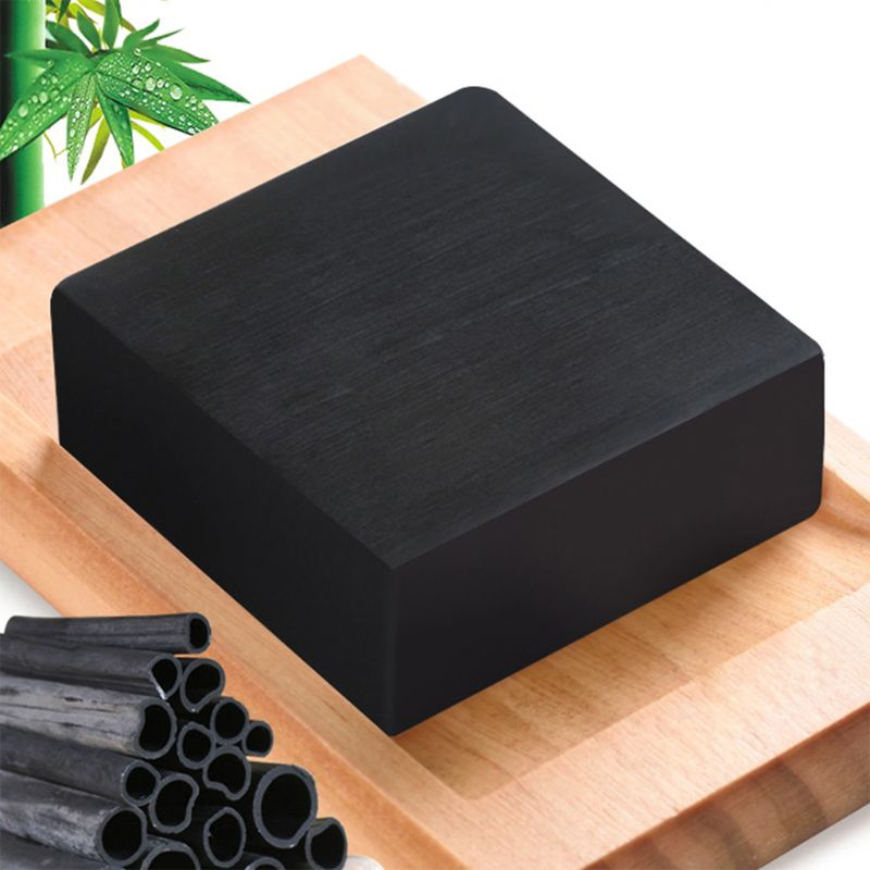 1Pc 1Pc 100g Handmade Bamboo Charcoal Square Soap Deep Face Cleansing Skin Whitening Blackhead Remover Oil Control Acne Shrink