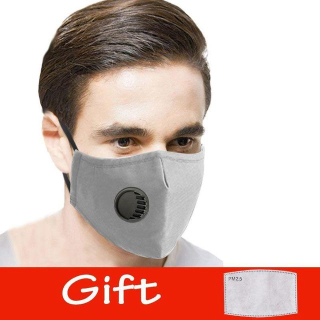 Cotton Face Mask PM2.5 Respirator Face Mask Activated Cover Mouth Anti Dust Haze Pollution Bacteria Proof Flu Masks with Filter 3