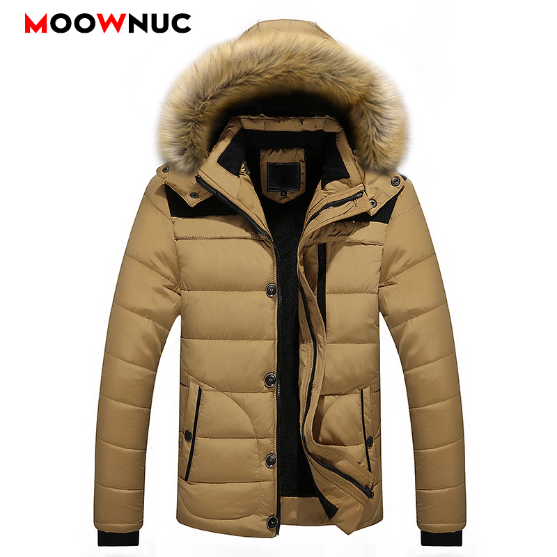 Fashion Parkas Hombre Coats Winter Warm Business Casual Windbreaker Overcoat Jackets Thick Windproof Men's Parkas Fit Brand