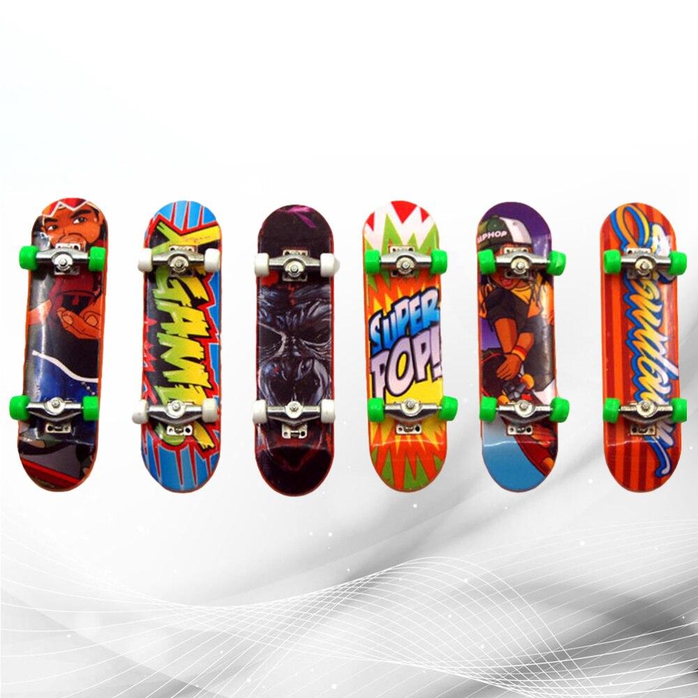 6 шт. Премиум забавный пластиковый декоративный мини Скутер доска для пальцев скейтборд игрушка колода игрушка для подарка детям
