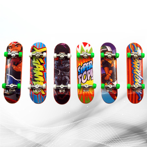6PCS Premium Funny Plastic Decorative Mini Scooter Finger Board Skateboard Toy Deck Toy for Gift Children Kid