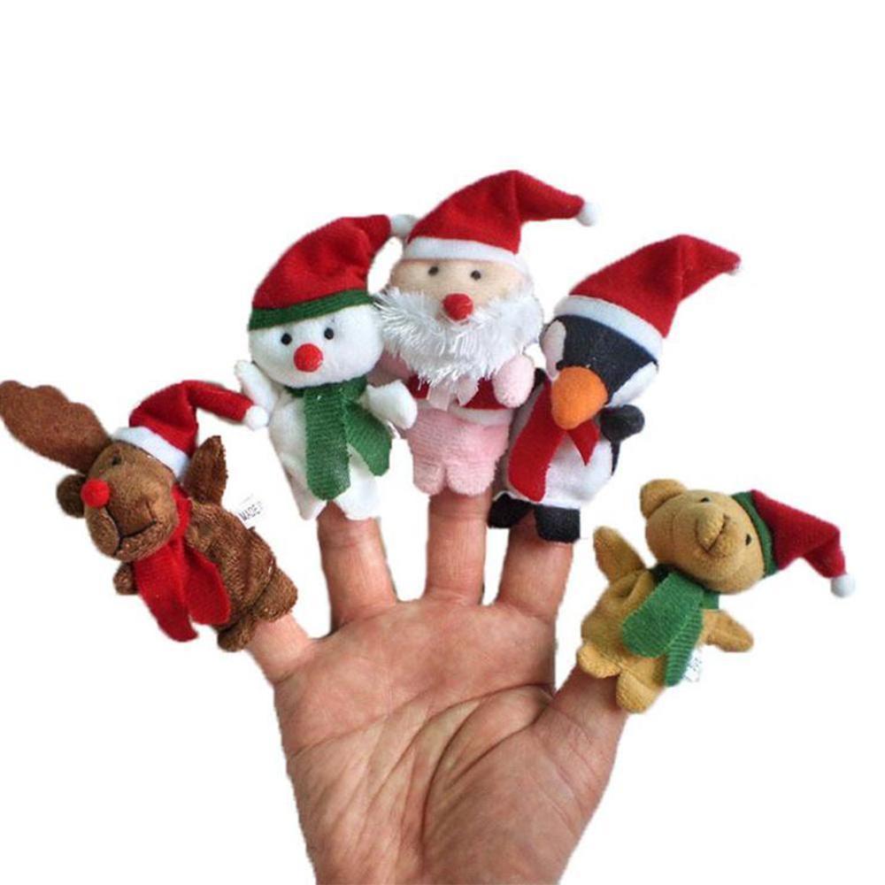 5PCS Christmas Finger Doll New Toys Mini Animal Dolls Parent-Child Early Education