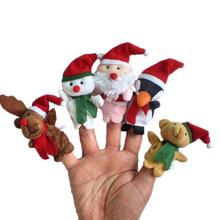 5PCS Christmas Finger Doll New Toys Mini Animal Dolls Parent-Child Early Education