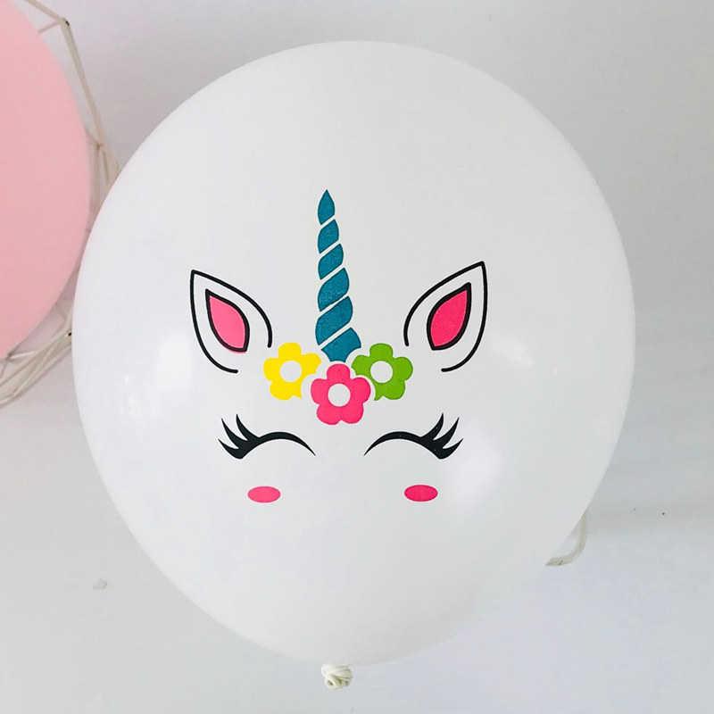 10 unids/pack de color unicornio globo flor boda fiesta suministros bebé niñas habitación decoración de color de rosa de soltera tema partes de los artículos
