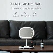 Зеркало для макияжа со светодиодной подсветкой компактное настольное