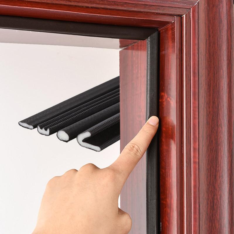 Bande de porte insonorisée en mousse polyuréthane auto-adhésif Type V bande détanchéité bande détanchéité de porte de sécurité pour fenêtre et porte