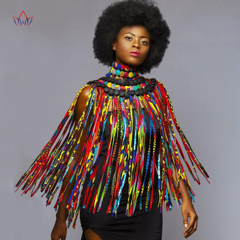 2019 African Beads Handmade Jewelry Skirt African Ankara Necklaces Jewelry Conversion Piece Rope Necklace Shawl Tribal SP054