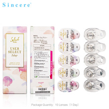 Sincere vision Brand color Contact Lenses 0-900 degree diopter for eye colour contact lens 10pcs/box Day throw Free shipping