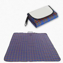 FOutdoor Picnic Mat Beach Folding Mat Proof Water Camping Mat Moistureproof Comforter Mat Plaid Blanket Mattress(China)