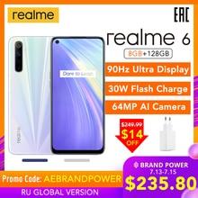 realme 6 Global Version Cellphone 8GB RAM 128GB ROM 6.5