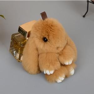 Image 5 - Plush Rabbit Keychain Car Pendant Girl Car Accessories Interior Dashboard Decoration Fashion Bag Pendant Gift